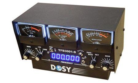 Inline Watt Meters - Black Faced Meters - 3 Watt Ranges with 1000 Watts Max & 3 Meters - Designed for Single Side-Band Users